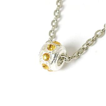 The Olivia Collection Sparkly Topaz Crystal Bead On 18