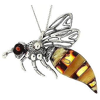 The Olivia Collection Sterling Silver Bumble Bee Pendant on 18
