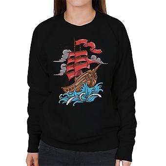 Ship Sail To The Sea Women's Sweatshirt