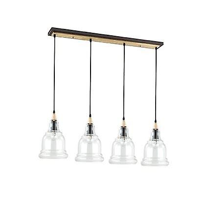 Ideal Lux - Gretel Four Light Pendant On Bar With Clear Glass Shades IDL122557