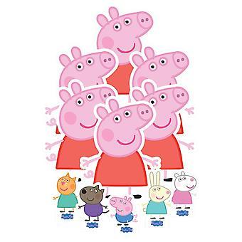 Peppa الخنزير & أعلى الجدول أصدقاء القواطع الكرتون حزمة الأحزاب ال 11