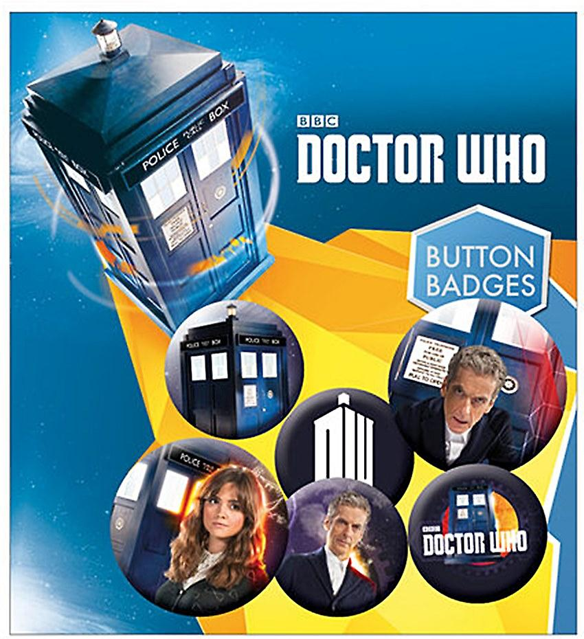 Doctor Who (Capaldi) 6 Pin Badges in Pack (ge)