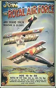 Join the Royal Air Force embossed metal sign