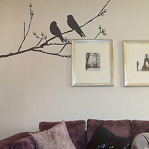 Bird on a branch wall sticker