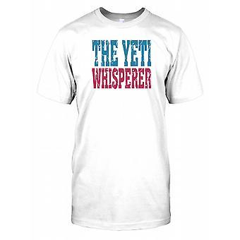 El hombre que susurraba a Yeti - conspiración niños T Shirt