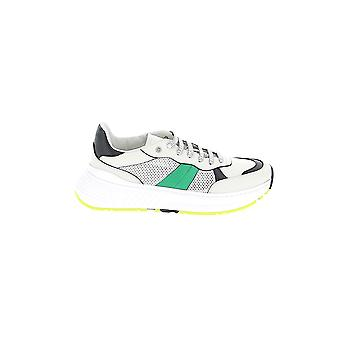 Bottega Veneta White/black Leather Sneakers