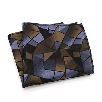 Purple brown & black stained glass look pocket square