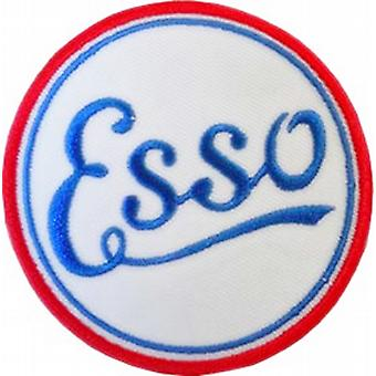 Esso Vintage round iron-on / sew-on cloth patch   (ff)