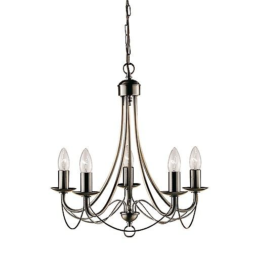 Searchlight 6345-5AB Maypole Nova 5 Arm Antique Brass Finished Chandelier