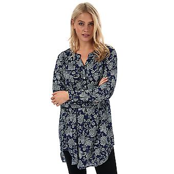 Womens Only Nova Lux Paisley Long Tunic In Blueprint