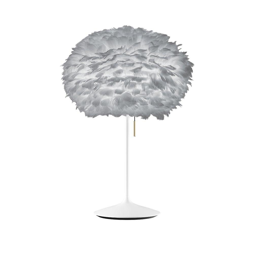 Umage Eos Table Lamp - Light gris Feather Eos Medium blanc Stand