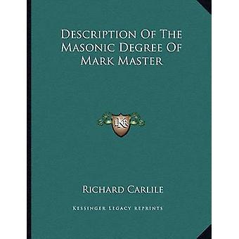Description of the Masonic Degree of Mark Master by Richard Carlile -