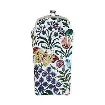 Voysey - Spring Flowers Glasses Pouch by Signare Tapestry / GPCH-SPFL