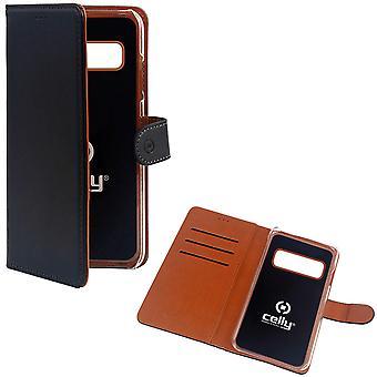 Celly Wallet Case Samsung Galaxy S10 Plånboksfodral Fodral Svart