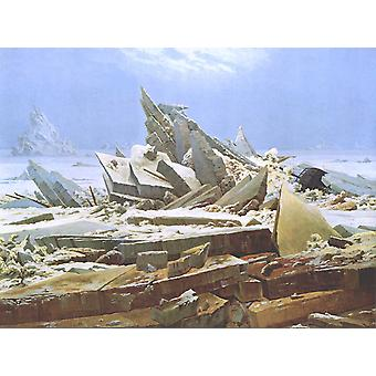Te Sea of Ice,Caspar David Friedrich,50x37cm