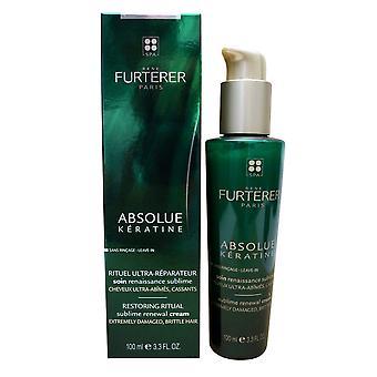 Rene Furterer Absolue Keratine Sublime Renewal Cream Damage Brittle Hair 3.3 OZ