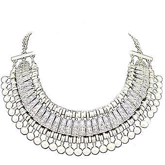 Sølv dame stil juvel erklæring krystal halskæde