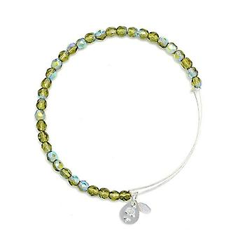 Alex en Ani Moss Rock Candy kralen Zilveren Bangle BBEB172S
