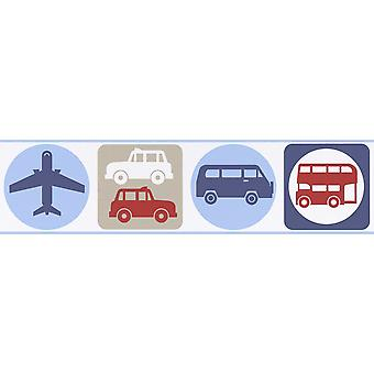 Transport Self Adhesive Wallpaper Border