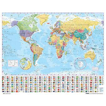 World Map 2012 Mini plakat 40x50cm