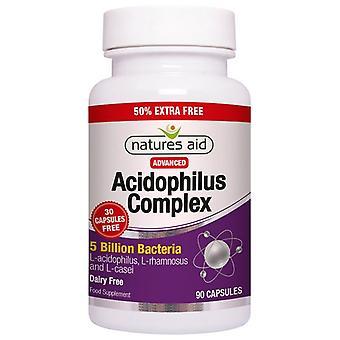 Nature's Aid Acidophilus Complex 5 milliards de capsules 90