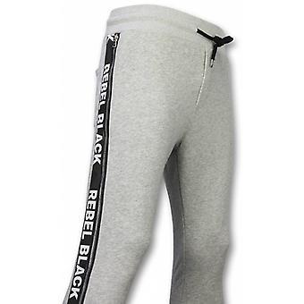 Casual Sweatpants-Rebel Black-Grey