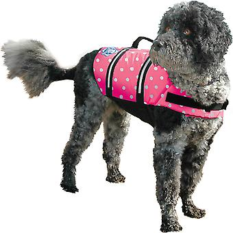Paws Aboard Doggy Life Jacket Large-Pink Polka Dot L1500-P1500