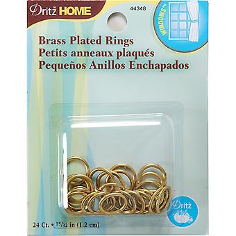 Brass Plated Rings 15 32
