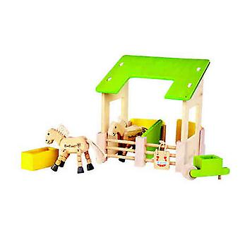 EverEarth - Wooden Stable Play Set With Accesories