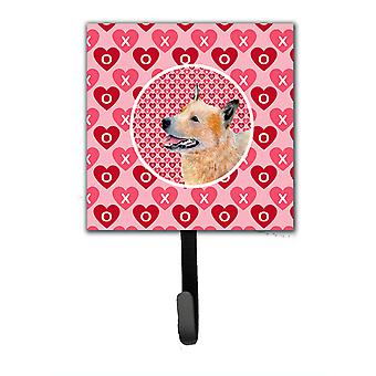 Australian Cattle Dog Valentine's Love and Hearts Leash or Key Holder