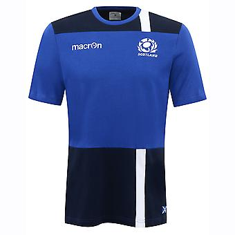 2016-2017 Scotland Macron Travel Cotton T-Shirt (Blue) - Kids