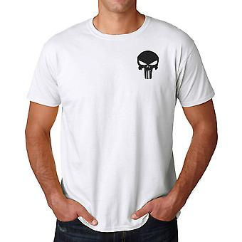 Norwegian Army Telemark Battalion Punisher Embroidered Logo - Ringspun Cotton T Shirt