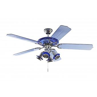 Ceiling fan Blue Angel with lighting 132 cm / 52