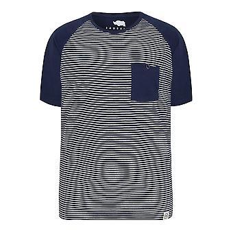 BadRhino Marine & weißen Streifen T-Shirt mit Raglanärmeln Kontrast