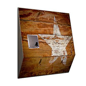 Wireless door Bell wood star wireless door bell made of stainless steel V2A