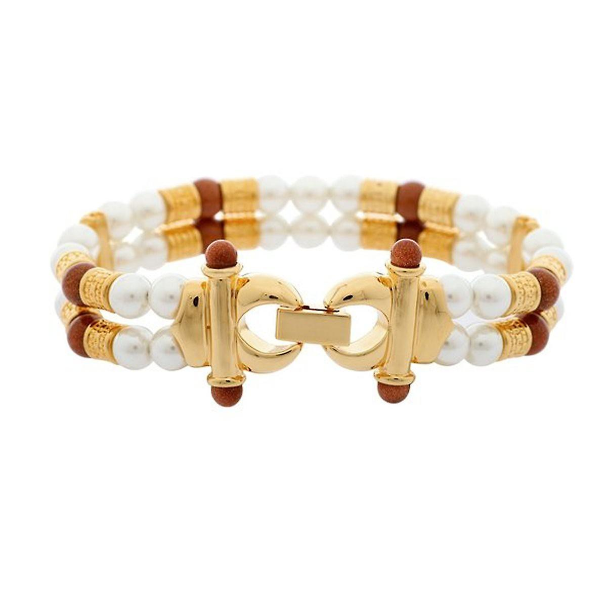 Misaki ladies bracelet stainless steel gold beads TITUS QCRBTITUS