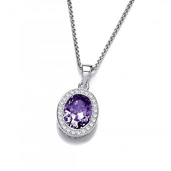 Cavendish French Silver and Amethyst CZ Timeless Elegance Pendant
