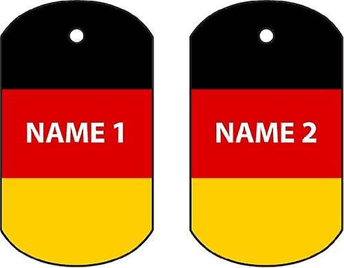Personalised Germany Dog Tag Car Air Freshener