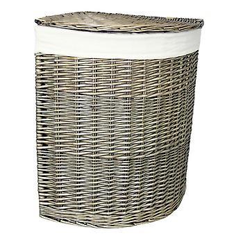Antique Wash Large Corner Laundry Basket