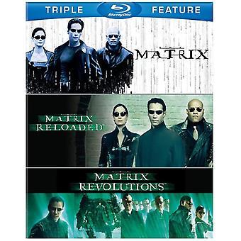 Matrix/Matrix Reloaded/Matrix Revolutions [BLU-RAY] USA importerer