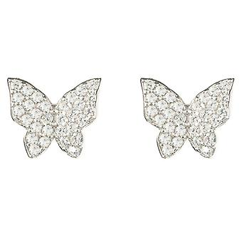 Latelita 925 Sterling Silver Earrings butterfly Stud Rosegold Gold Sparkly Small
