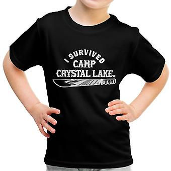 I Survived Camp Crystal Lake Friday the 13th Kid's T-Shirt