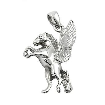 Silver Pendant PEGASUS horse with wings diamond single earrings Silver 925