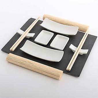 Bigbuy Sushi set with 11 pieces Slate Tray