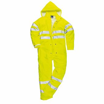 Portwest Mens Sealtex Ultra HiVis Hooded Coverall Boilersuit
