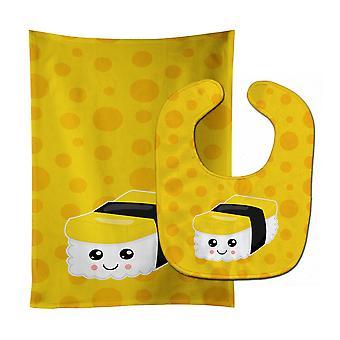 Carolines Treasures  BB8809STBU Sushi Sashimi #2 Baby Bib & Burp Cloth