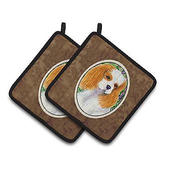 Carolines Treasures  SS1006PTHD Cavalier Spaniel Pair of Pot Holders