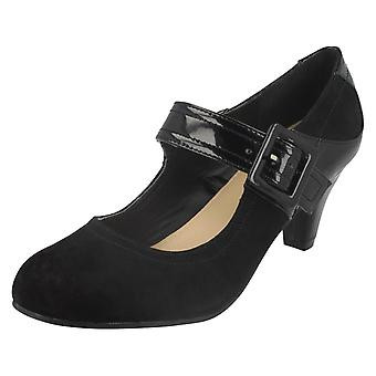 Ladies Anne Michelle Smartwear Heels With Buckle Bar 652290