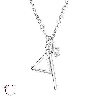 Geometric crystal from Swarovski® - 925 Sterling Silver Necklaces