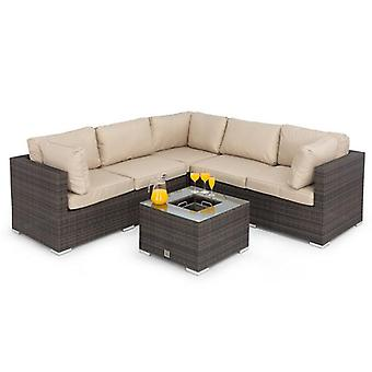 Maze Rattan Porto Corner Garden Sofa with Ice Bucket